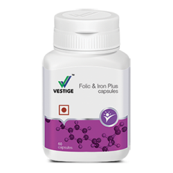 Vestige Folic & Iron Plus Capsules
